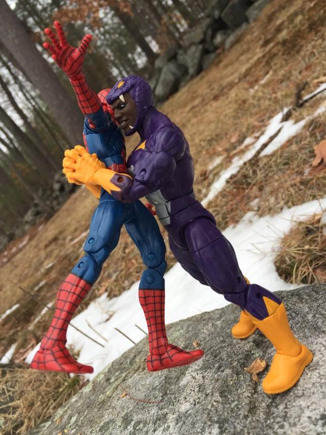Marvel Legends Captain America Cottonmouth Bear Hugs Spider-Man