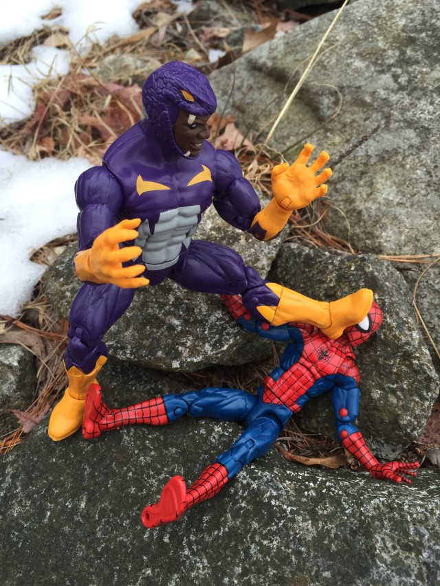 Hasbro Cottonmouth Marvel Legends 6 Inch Figure Crushes Spider-Man
