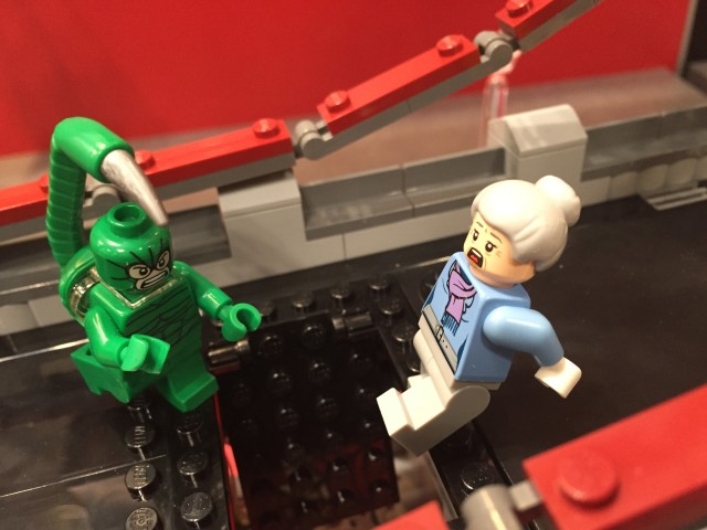 LEGO Aunt May Minifigure from LEGO 76057 Spider-Man Bridge Battle Set