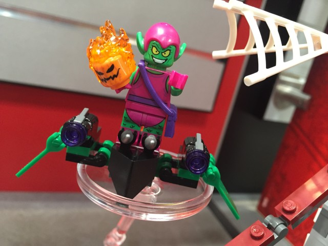 Toy Fair 2016 LEGO Green Goblin Minifigure on Goblin Glider