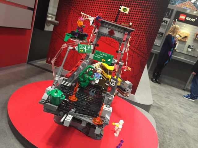 Front View of LEGO 76057 Spider-Man Ultmate Bridge Battle Set