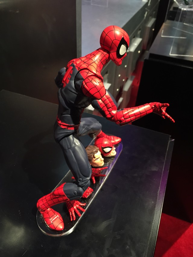Side View of Hasbro Marvel Legends 1/6 Spider-Man Figure