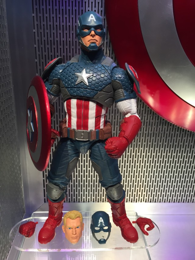 Toy Fair 2016 12 Inch Captain America Marvel Legends Figure