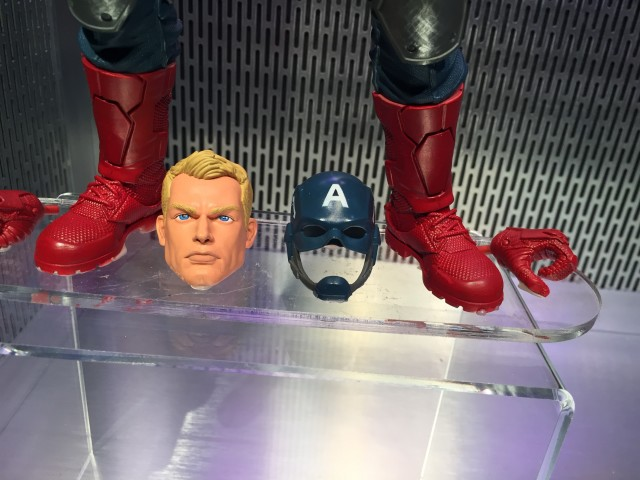 "12"" Marvel Legends Captain America Steve Rogers Head Close-Up"