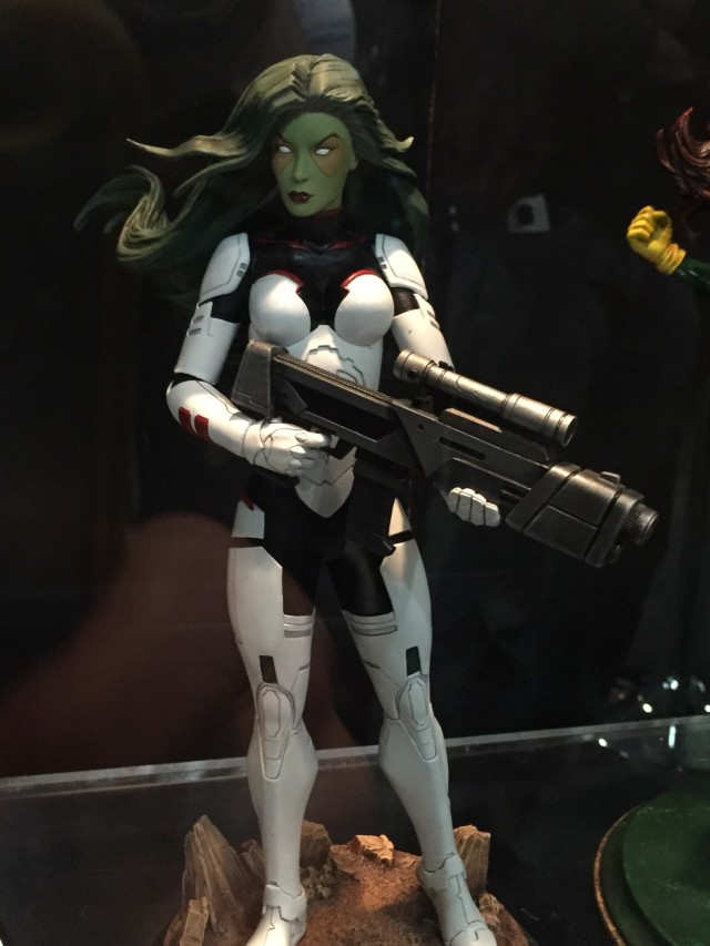 Close-Up of Marvel Premiere Collection Gamora Statue