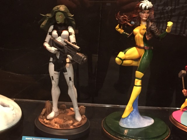 Marvel Premiere Collection Gamora and Rogue Statues