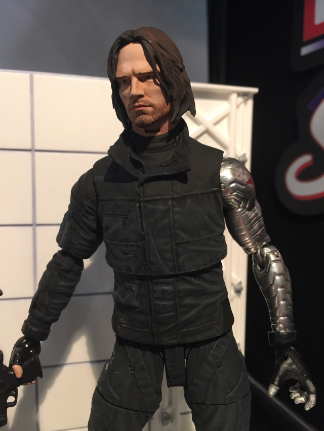 "Close-Up of Diamond Select Bucky 7"" Figure Civil War"