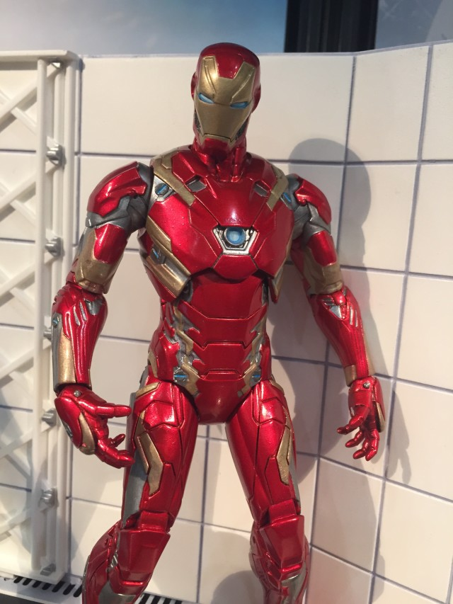 "Close-Up of Marvel Select Iron Man Civil War 7"" Action Figure"