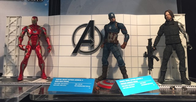 Toy Fair 2016 Marvel Select Civil War Figures