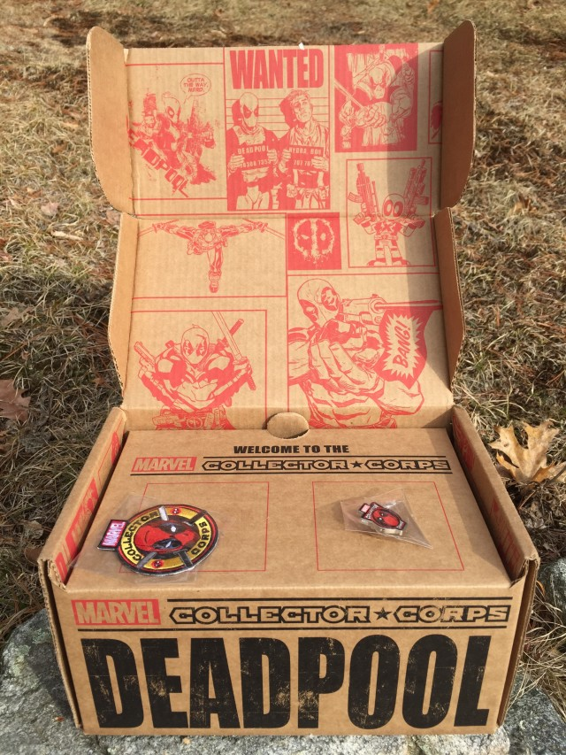 Funko Deadpool Collectors Corps Unboxing Pin Patch