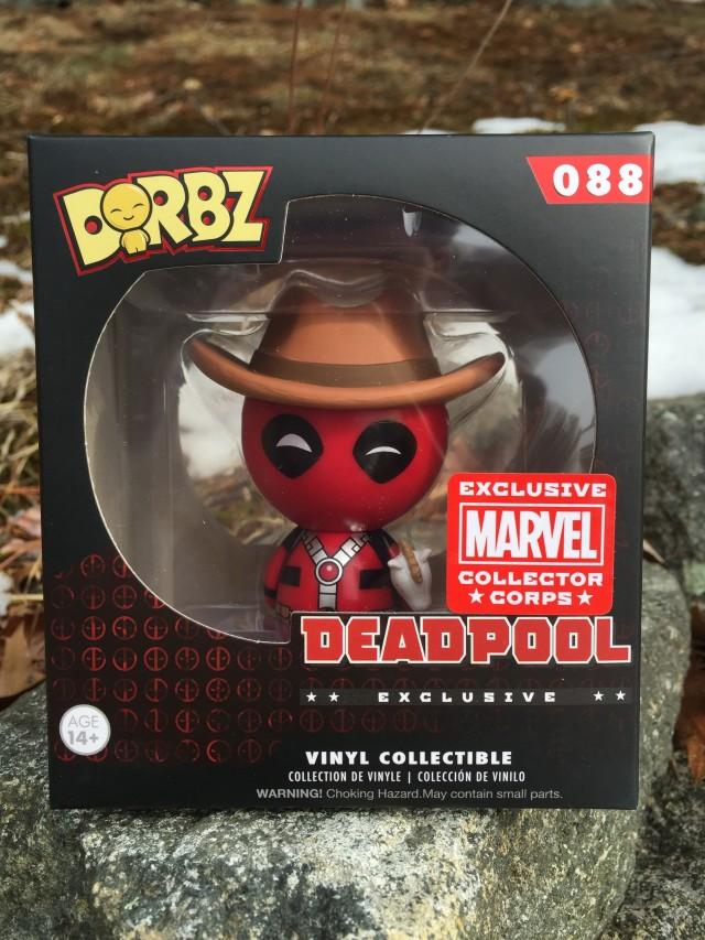 Exclusive Cowboy Deadpool Dorbz Figure Packaged