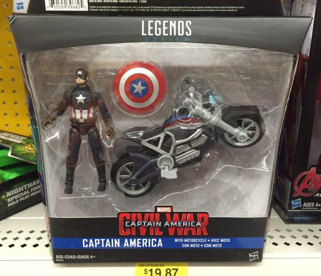 Hasbro Marvel Legends Civil War Captain America & Motorcycle Packaged