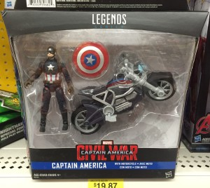 Hasbro Marvel Legends Civil War Captain America & Motorcycle Packaged
