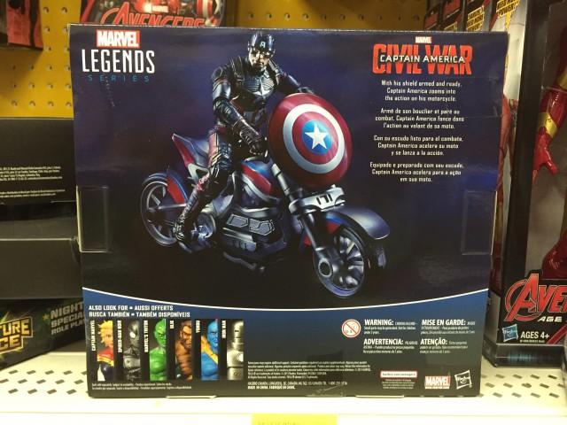 Marvel Legends Captain America Motorcycle Box Back
