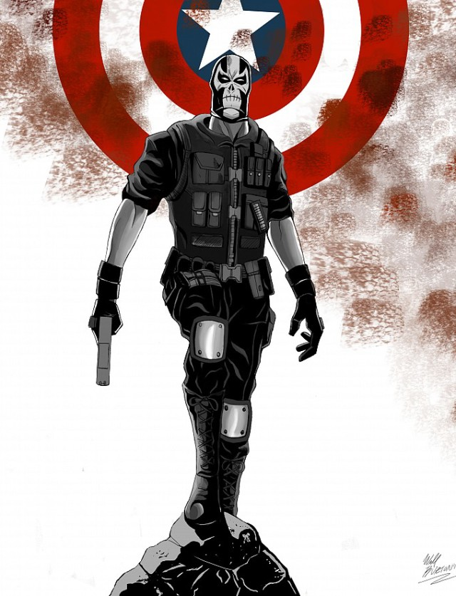 Marvel Crossbones Comic Book Cover Captain America