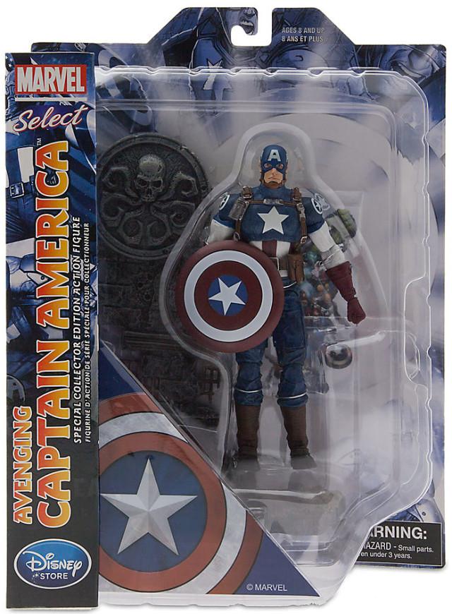 Marvel Select Avenging Captain America Figure Packaged