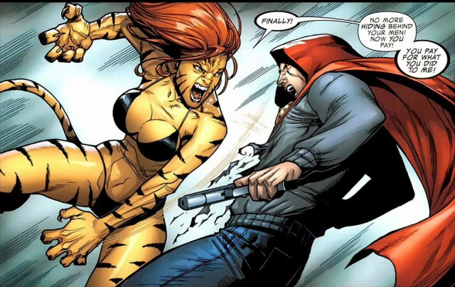 Marvel Tigra vs The Hood Comic Book