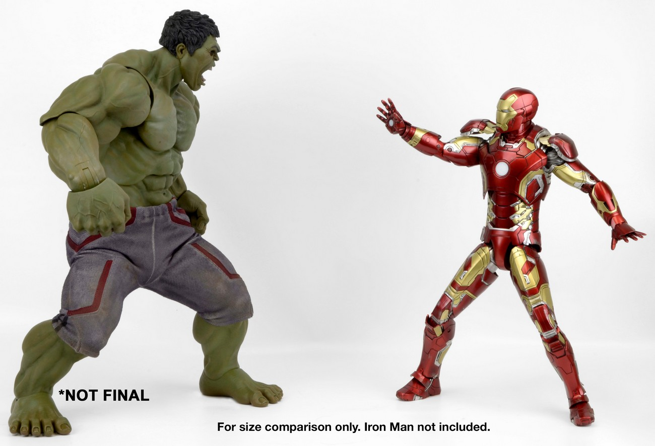 Toy fair 2016 neca hulk 14 figure up for order marvel toy news neca 1 4 hulk figure scale photo with iron man publicscrutiny Gallery