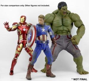 NECA Quarter Scale Hulk Figure Size Comparison Scale