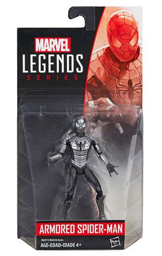 Armored Spider-Man Marvel Legends 4 Inch Wave 2 Action Figure