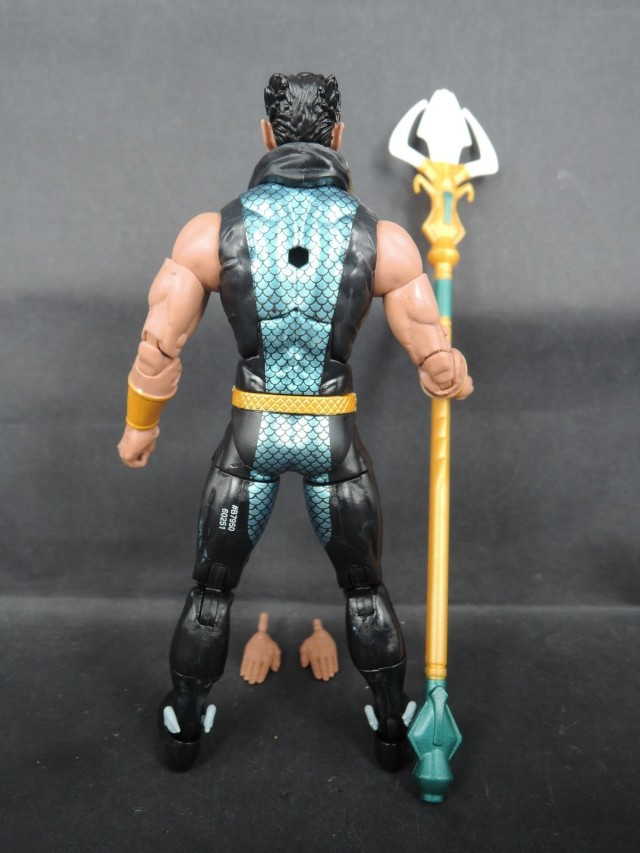 Back of Hasbro Marvel Legends 6 Inch Namor Action Figure