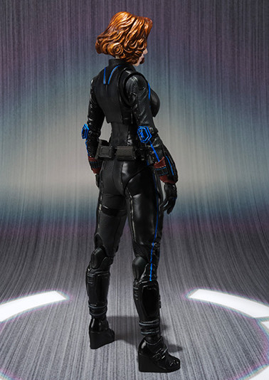 Back of SH Figuarts Black Widow Bandai 6 Inch Figure