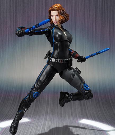 Bandai S.H. Figuarts Avengers Black Widow 6 Inch Figure with Batons