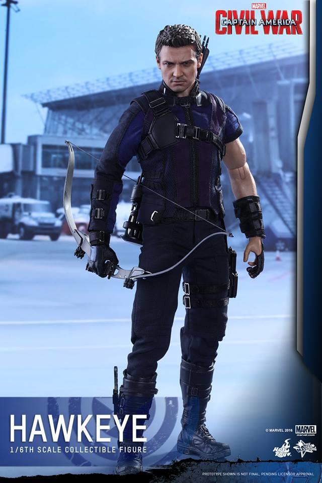 Captain America Civil War Hawkeye Hot Toys MMS Figure