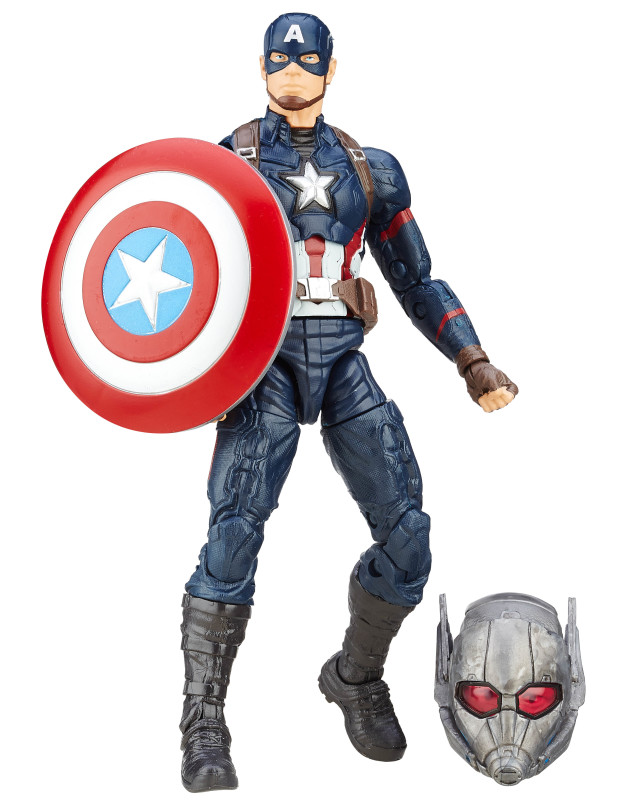 Captain America Civil War Marvel Legends Figure with Giant-Man Head