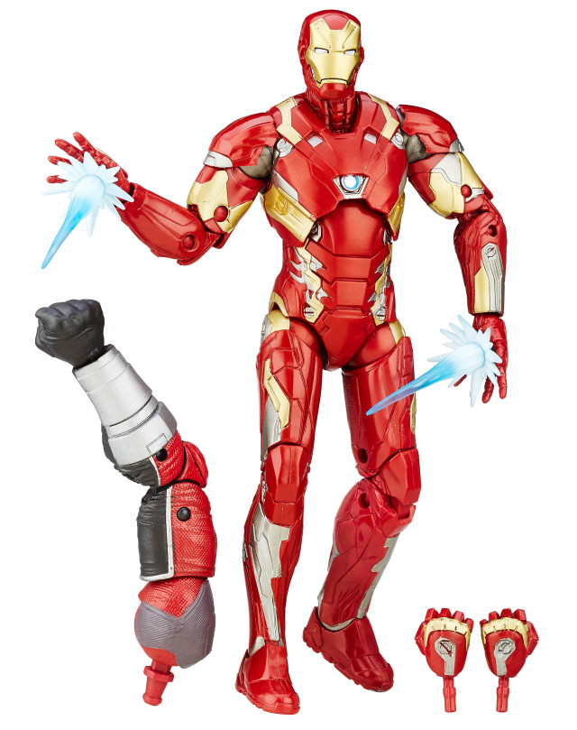 Civil War Iron Man Marvel Legends Six Inch Figure with Giant Man Arm