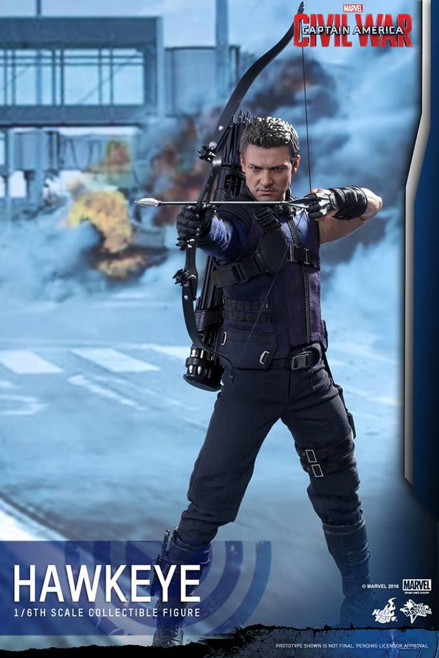 Hot Toys 2016 Hawkeye Movie Masterpiece Series Figure Civil War