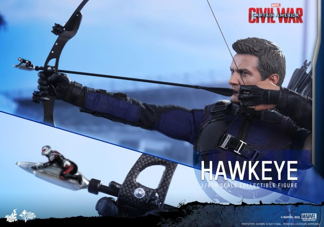 Hot Toys Ant-Man on Arrow with Hawkeye Figure