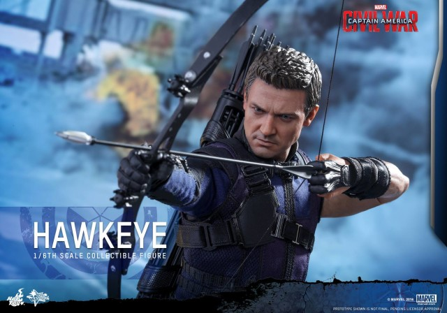 Hot Toys Civil War Hawkeye Aiming Bow and Arrow