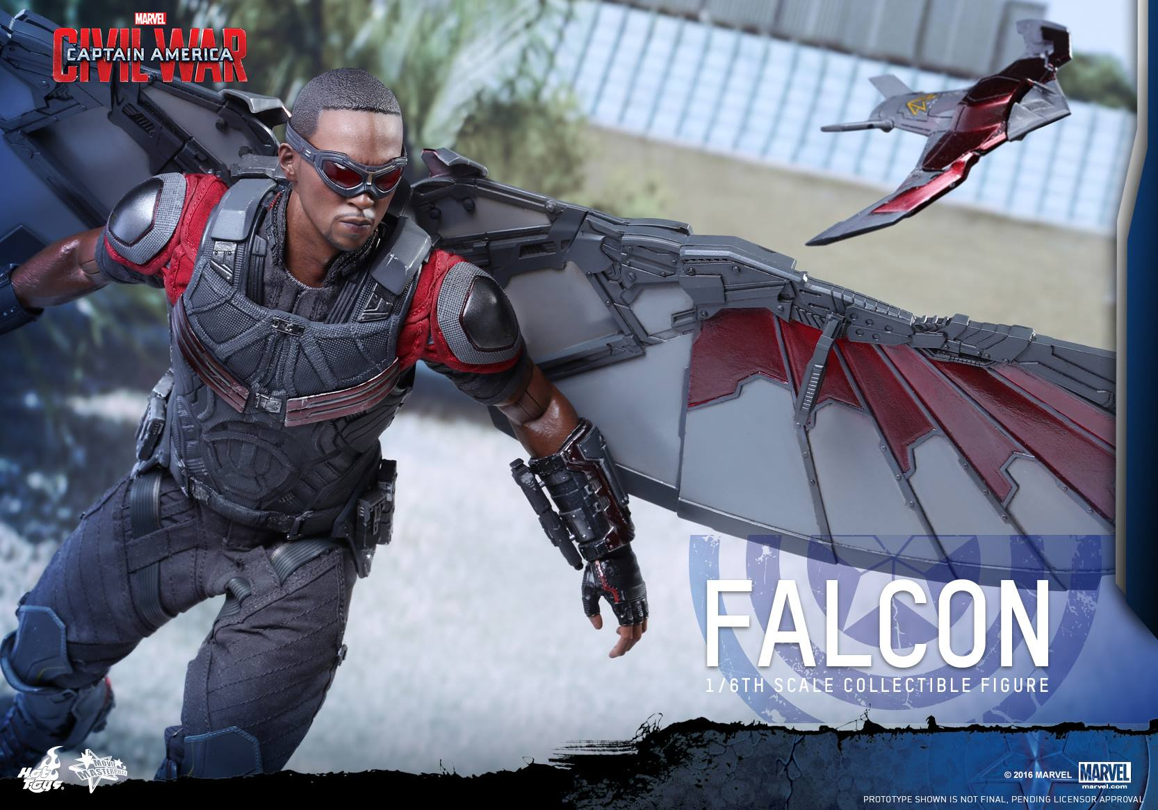 Learn How To Draw Falcon From Captain America Civil War: Hot Toys Civil War Falcon Figure Photos & Order Info