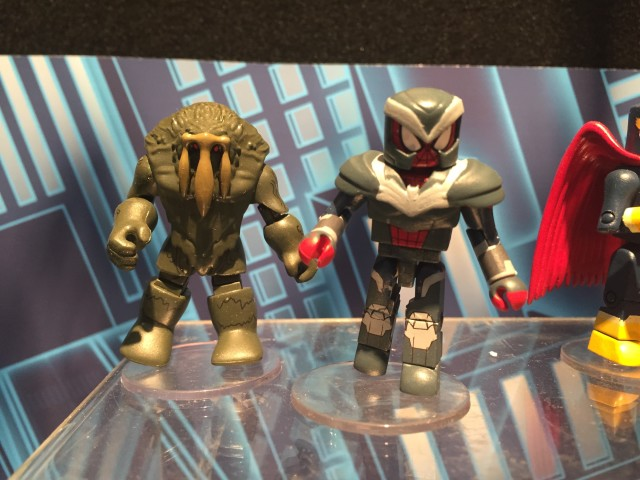 Toy Fair 2016 Marvel Minimates Man-Thing & SHIELD Armor Spider-Man