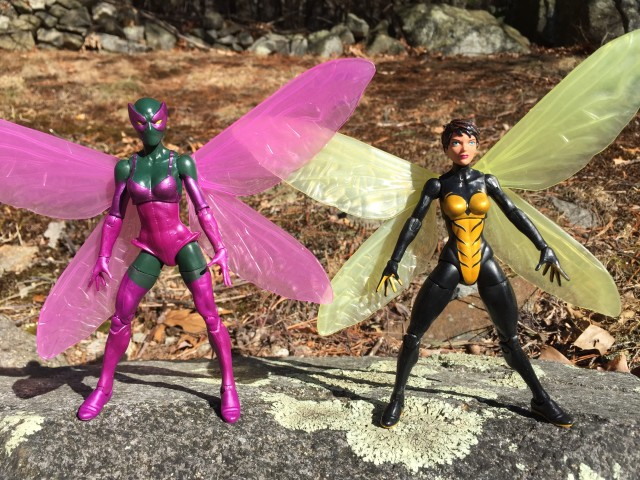 Marvel Legends Wasp and Beetle Figures Comparison Photo
