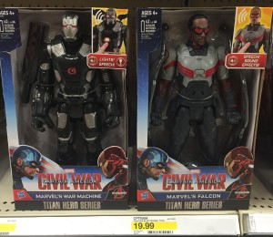 Captain America Civil War Titan Hero War Machine & Falcon Figures
