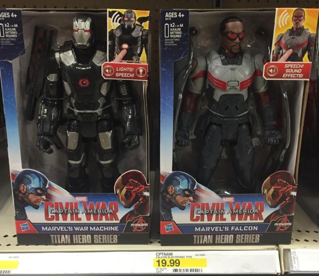 Captain America Civil War Titan Hero War Machine & Falcon Figures