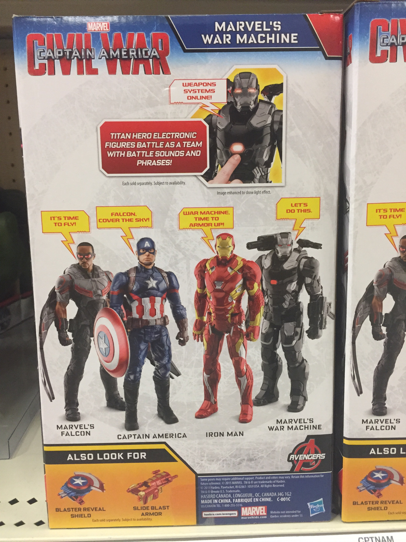 CAPTAIN AMERICA Titan Hero WAR MACHINE Brand New in Box Age 4+