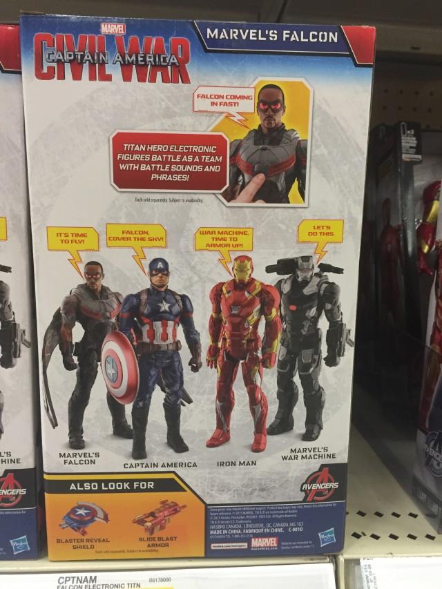 "Box Back Titan Heroes Civil War Falcon Action Figure 12"""
