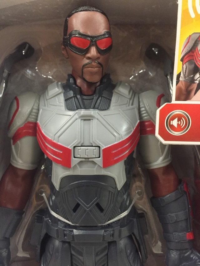 "Civil War Falcon Titan Hero 12"" Figure Close-Up Anthony Mackie"