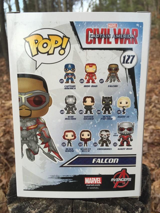 Funko Civil War POP Vinyls Box Back Falcon Giant-Man