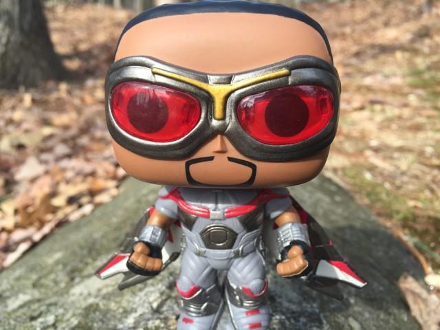 Funko Captain America Civil War Falcon POP Vinyls Translucent Red Goggles