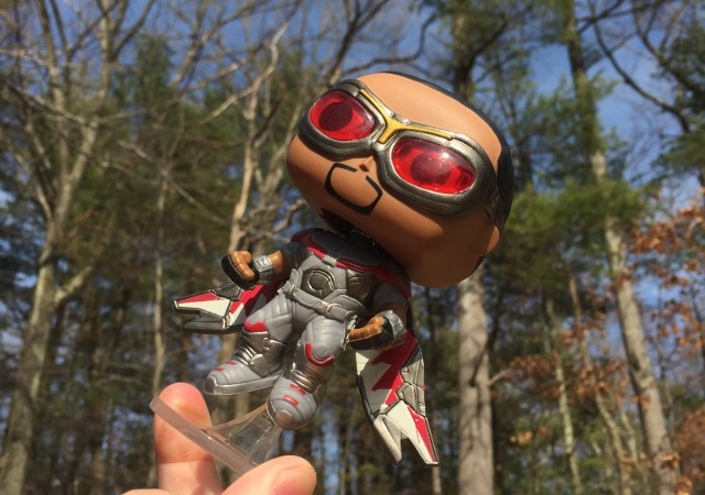 Falcon Funko POP Vinyl Exclusive Figure Flying on Flight Stand