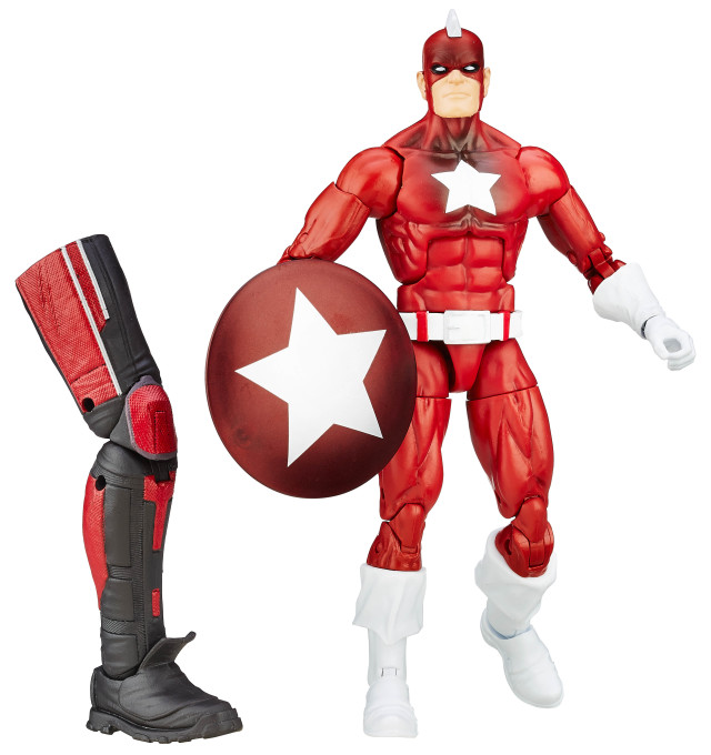 Marvel Legends Captain America Civil War Red Guardian Figure with Giant-Man Leg