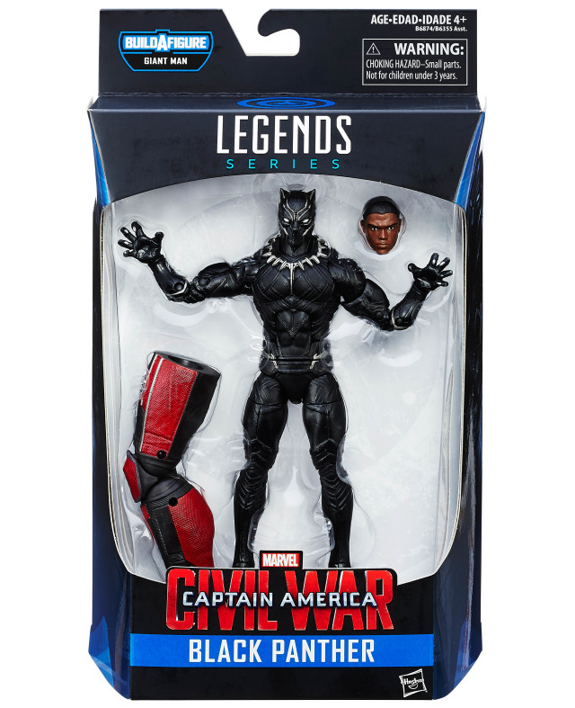 Marvel Legends Civil War Black Panther Figure Packaged