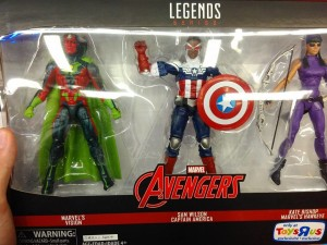 Marvel Legends Sam Wilson Captain America Kate Bishop Hawkeye Vision Pack