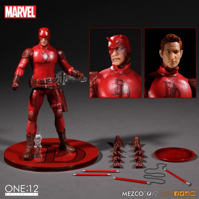 Mezco Daredevil Figure and Accessories Marvel One 12 Collective