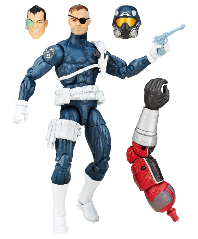 Nick Fury Marvel Legends Civil War Figure with Giant Man Arm and Dirk Anger Head