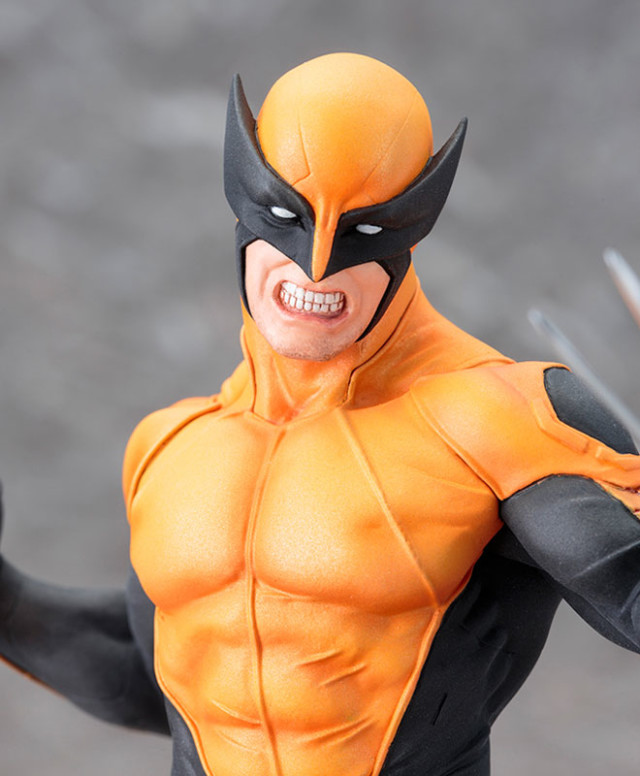 Wolverine Kotobukiya ARTFX+ Statue Close-Up